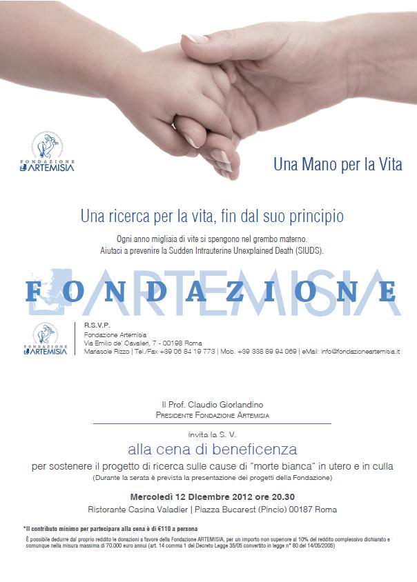 Cena Beneficenza Fondazione Artemisia